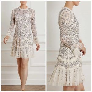 NEW Needle & Thread Marigold Rose Mini Dress Sz 0